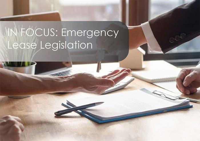 Emergency Lease Legislation