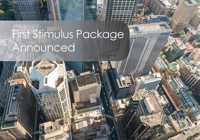 First Stimulus Package Announced