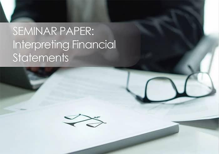 Seminar Paper Interpreting Financial Statements