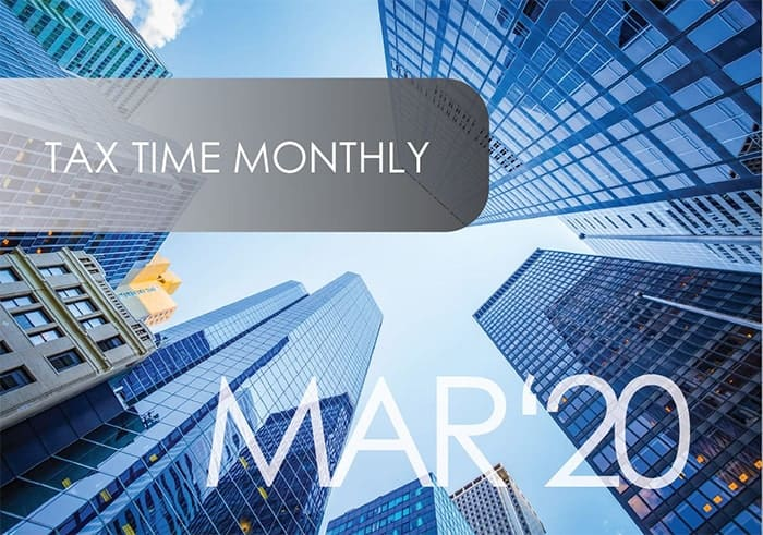 Tax Time Monthly March 2020