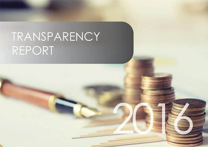Transparency Report 2016